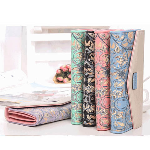 5 Colors Flower Long Wallet - BoardwalkBuy - 1
