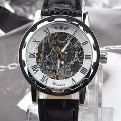 Winner Luxury Mechanical Skeleton Watch With Leather Band - Assorted Colors - BoardwalkBuy - 6