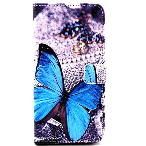 Butterfly Leather Wallet Case for iPhone 6 Plus