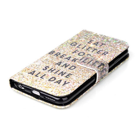 Glitter Shining Leather Case For Iphone 6 4.7