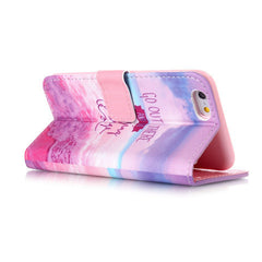 Pink Stand Leather Case For Iphone 6 - BoardwalkBuy - 3