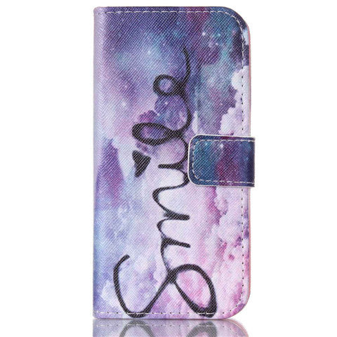 Purple Smile Stand Leather Case For Iphone 6 - BoardwalkBuy - 1