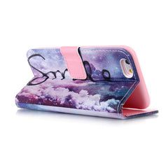 Purple Smile Stand Leather Case For Iphone 6 - BoardwalkBuy - 3