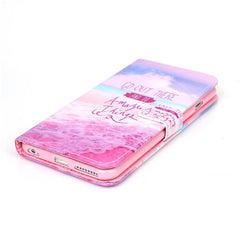 Pink Stand Leather Case For Iphone 6 plus - BoardwalkBuy - 2