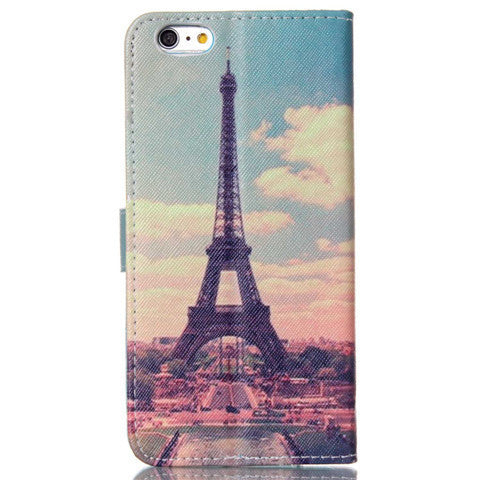 Paris Stand Leather Case For Iphone 5S
