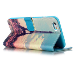 Paris Stand Leather Case For iPhone 5s - BoardwalkBuy - 2