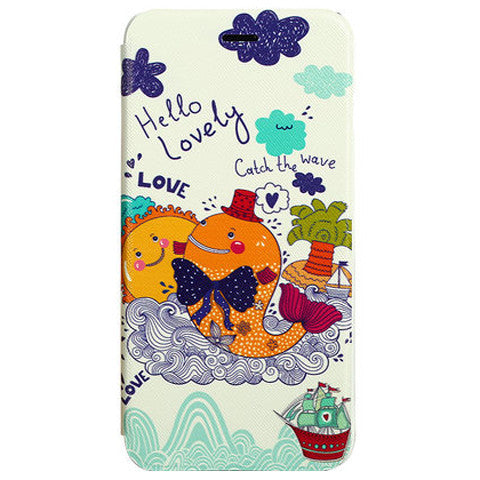 Stand Leather Cartoon Case for iPhone 6 Plus - BoardwalkBuy