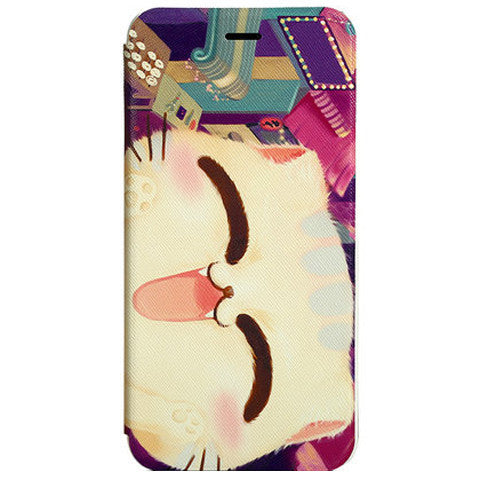 Stand Cartoon Leather Case for iPhone 6 Plus - BoardwalkBuy
