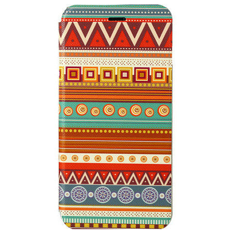 Tribe Pattern Leather Case for iPhone 6 Plus - BoardwalkBuy