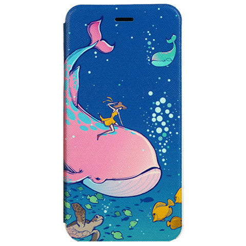 Dolphin Stand Leather Case for iPhone 6 Plus - BoardwalkBuy