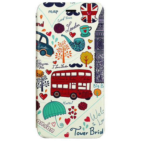 Cartoon Stand Leather Case for iPhone 6 Plus - BoardwalkBuy