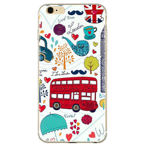 Cartoon Bus TPU Soft Case for iPhone 6 Plus - BoardwalkBuy