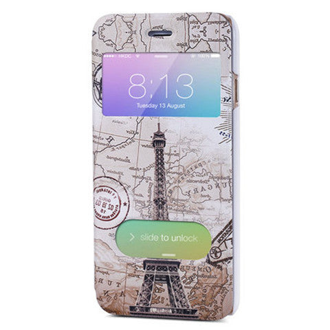 Eiffel Tower Leather Case for iPhone 6 Plus - BoardwalkBuy