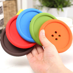 6Pcs/Lot Silicon Cute Colorful Button Coaster - BoardwalkBuy - 6