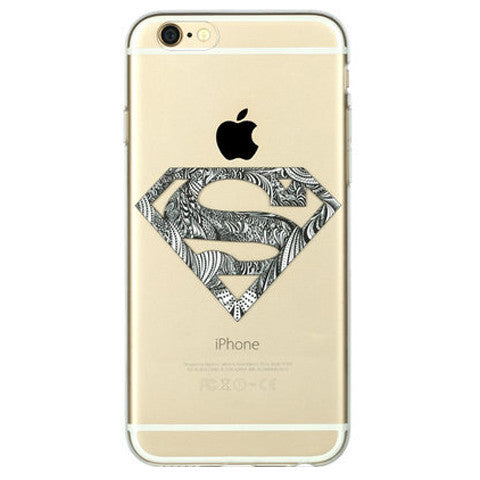 Super Man Clear Tpu Case For Iphone 6