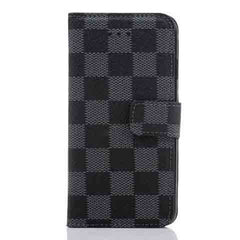 PU Leather Plaid Wallet Case For iPhone 6 - BoardwalkBuy - 3