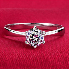 6mm Cubic Zirconia Promise Ring - BoardwalkBuy - 4