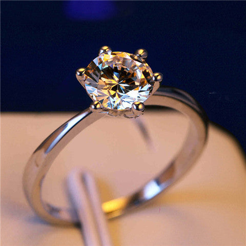 6mm Cubic Zirconia Promise Ring - BoardwalkBuy - 1
