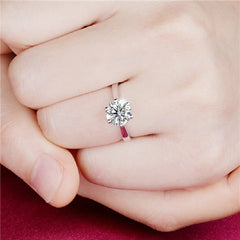 6mm Cubic Zirconia Promise Ring - BoardwalkBuy - 3
