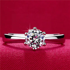 6mm Cubic Zirconia Promise Ring - BoardwalkBuy - 6