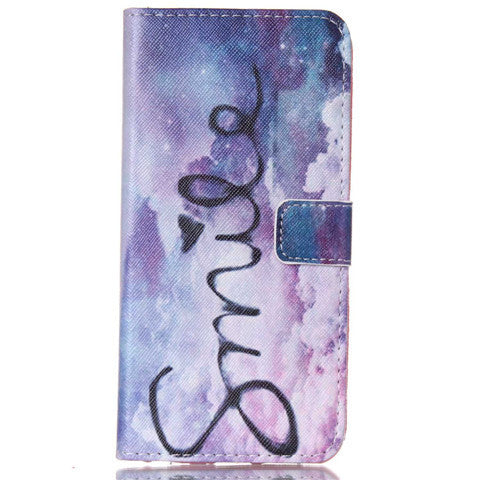 Purple Smile Stand Leather Case For Iphone 6 plus - BoardwalkBuy - 1