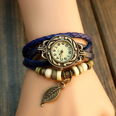 Leaf Boho-Chic Vintage-Inspired Handmade Watch - Assorted Colors - BoardwalkBuy - 6