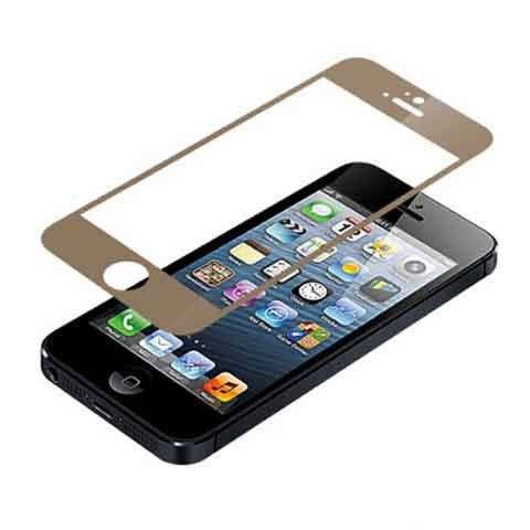 iPhone 5 Premium Shock Proof Tempered Glass Screen Protector Cover gold - BoardwalkBuy - 1