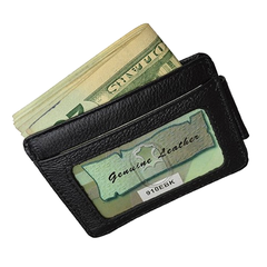 Luxuries Genuine Leather Magnetic Money Clip Wallet - BoardwalkBuy - 3