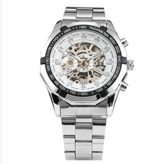 Winner Luxury Mechanical Military Watch - Black or White - BoardwalkBuy - 4