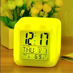 7 LED Colour Changing Digital LCD Alarm Clock - BoardwalkBuy - 2