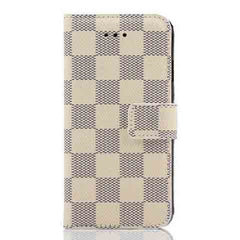 PU Leather Plaid Wallet Case For iPhone 6 - BoardwalkBuy - 4