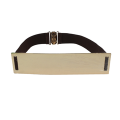 Metallic Wide Mirror Elastic Waist Belt - Assorted Colors - BoardwalkBuy - 2