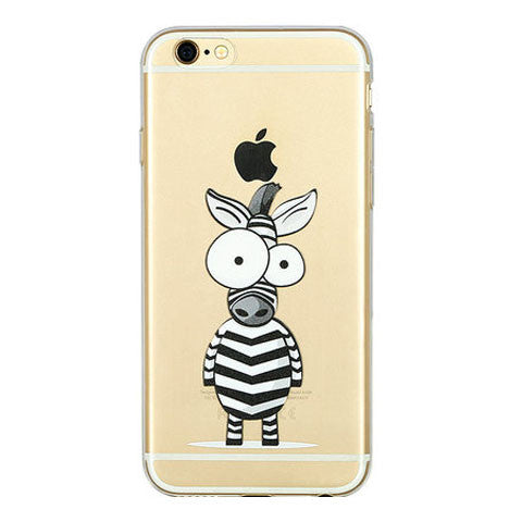 "Zebra Pattern TPU Case for iPhone 6 4.7"" - BoardwalkBuy"