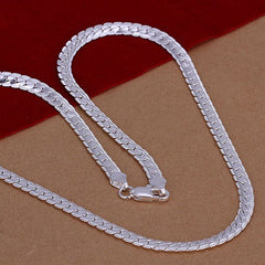 Snake Shape Silver Men's Necklace - BoardwalkBuy - 1