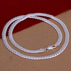 Snake Shape Silver Men's Necklace - BoardwalkBuy - 2