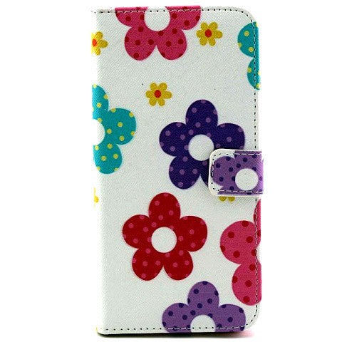 Flower Leather Stand Case For Iphone 6 Plus