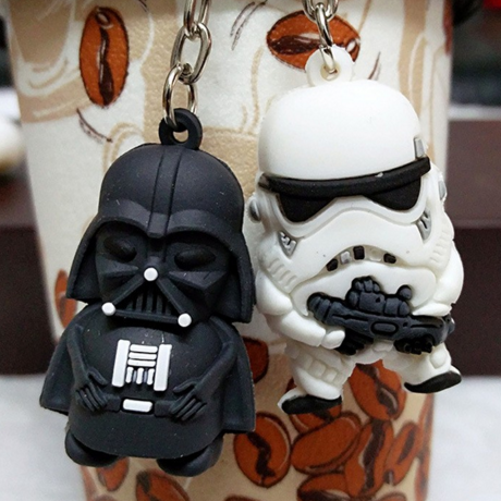 Mini Star Wars Action Figure Keychain - Darth Vader Or Stormtrooper