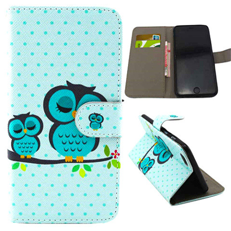 Owl Leather Stand Case For iPhone 6 Plus