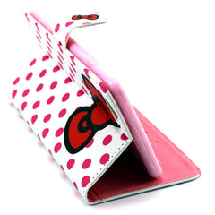 Bowknot Dot Leather Case for iPhone 6 Plus - BoardwalkBuy - 5