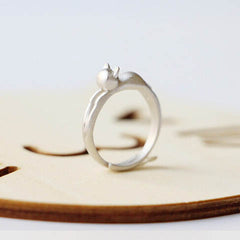 Silver Cat  Head Opening Ring - BoardwalkBuy - 2