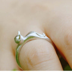 Silver Cat  Head Opening Ring - BoardwalkBuy - 4