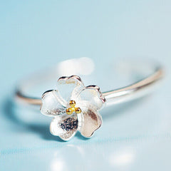 925 Silver Cherry Blossm Ring - BoardwalkBuy - 2