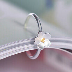 925 Silver Cherry Blossm Ring - BoardwalkBuy - 5