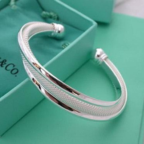 925 Silver Dreamlike Bangle Bracelet - BoardwalkBuy - 1