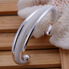925 Silver Dreamlike Bangle Bracelet - BoardwalkBuy - 3