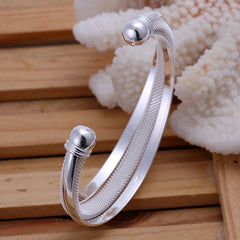 925 Silver Dreamlike Bangle Bracelet - BoardwalkBuy - 4