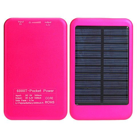 5000Mah Portable Battery Solar Power Bank