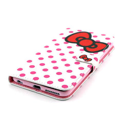Bowknot Dot Leather Case for iPhone 6 Plus - BoardwalkBuy - 4