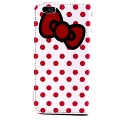Bowknot Dot Leather Case for iPhone 6 Plus - BoardwalkBuy - 2