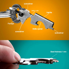 Multifunctional Bottle Opener and Key Chain Tool - BoardwalkBuy - 3